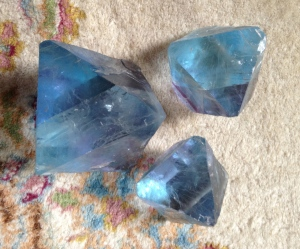 3 matching Blue Fluorites