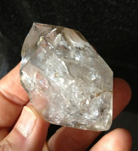 Herkimer Diamonds are the picture of health - impenetrable - allowing light, but nothing else, to pass through.