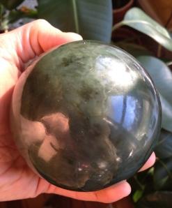 soothing Nephrite Jade sphere